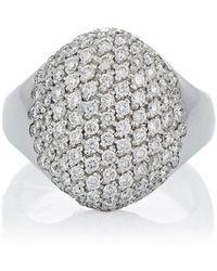 Roberto Marroni Pavé Circular Ring - White