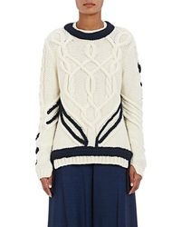 Orley - Contrast Braid Cable-knit Sweater - Lyst