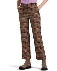 10 Crosby Derek Lam Plaid Straight Pants - Brown