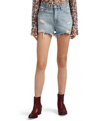 Rag & Bone Justine Distressed Denim Shorts - Blue