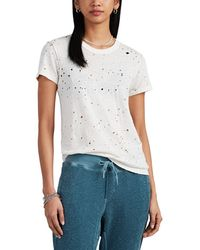NSF Alessi Distressed Slub Hemp-cotton T-shirt - White