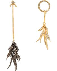 Givenchy - Arrow Mismatched Drop Earrings - Lyst