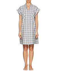 The Sleep Shirt - Checked Cotton Flannel Sleep Shirt - Lyst