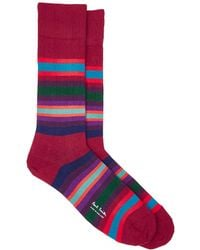 Paul Smith - Striped Cotton-blend Mid - Lyst