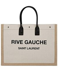 Saint Laurent - Noe Linen Canvas Tote Bag - Lyst