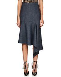 Balenciaga - Checked Wool-blend Asymmetric Skirt - Lyst