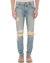 En Noir - Distressed Jeans - Lyst