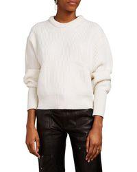 Chloé Wool-cashmere Crewneck Sweater - White