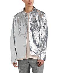OAMC Grid-graphic Coach's Jacket - Metallic