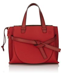 Loewe - Gate Small Leather Satchel - Lyst