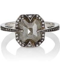 Cathy Waterman - Black Diamond Ring - Lyst
