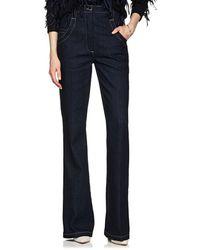 Nina Ricci - High-waist Bell-bottom Jeans - Lyst