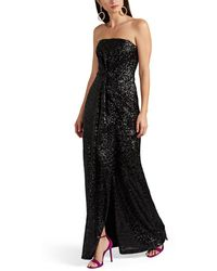 Prabal Gurung - Draped Sequined Strapless Gown - Lyst