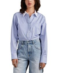 Alexander Wang Striped Cotton Bodysuit - Blue