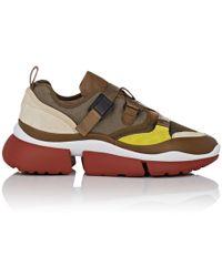 Chloé - Crisscross-strap Sneakers - Lyst