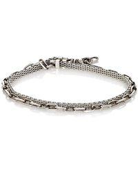 Title Of Work Anchor Double-wrap Bracelet - Metallic