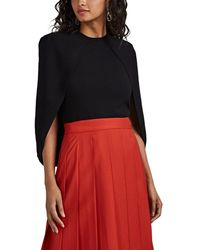 Givenchy - Crepe Cape Sweater - Lyst