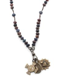 Miracle Icons - Vintage-icon Beaded Rosary Necklace - Lyst
