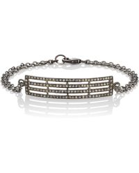 Feathered Soul - Oxidized Sterling Silver Plate Bracelet - Lyst