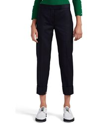 Thom Browne Wool Crop Cuffed Trousers - Blue