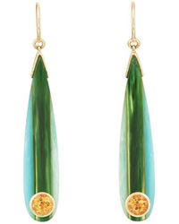 Mark Davis - Bakelite & Citrine Drop Earrings - Lyst