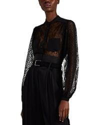 Givenchy Semi-sheer Lace Blouse - Black