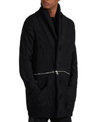 Alexander McQueen - Chunky Wool Convertible Cardigan - Lyst