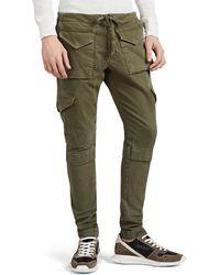 Greg Lauren Cotton Slim Cargo Pants - Green