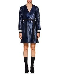 Robert Rodriguez - Striped-cuff Belted Sequin Dress - Lyst