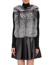 J. Mendel Sequined-embellished Fur Vest - Gray