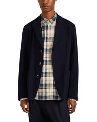 Thom Browne Camel Hair Three button Sportcoat in BeigeTan