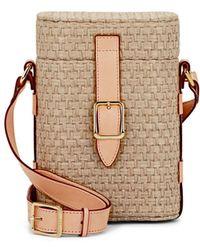 OFFICINA DEL POGGIO Mini Safari Jute Crossbody Bag - Multicolour