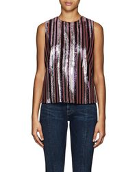 Robert Rodriguez - Tie-back Striped Sequined Top - Lyst