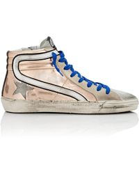 Golden Goose Deluxe Brand - Slide Leather & Suede Trainers - Lyst
