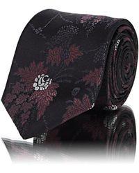 Alexander McQueen - Floral Silk Faille Necktie - Lyst