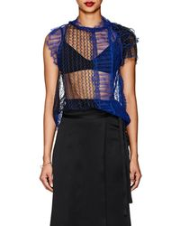 3.1 Phillip Lim - Colorblocked Sheer Lace Blouse - Lyst