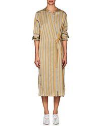 Tomorrowland - Striped Twill Long Shirtdress - Lyst