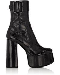 8fa1a8faea4 Saint Laurent Lizard Skin Effect Chelsea Boot in Black - Lyst