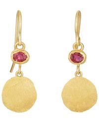 Judy Geib - Ruby Double-drop Earrings - Lyst