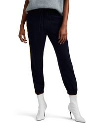 10 Crosby Derek Lam Striped Crepe Jogger Trousers - Blue