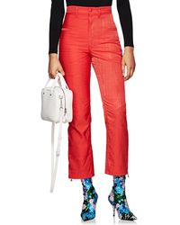 Marine Serre - Moiré High-waist Trousers - Lyst
