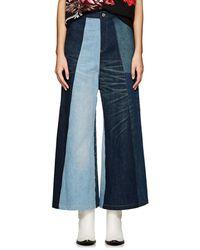 Junya Watanabe - Patchwork Denim Wide-leg Jeans - Lyst