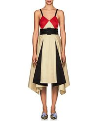 Koche - Cotton Belted Flared Dress - Lyst