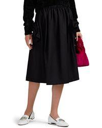 Comme des Garçons - Bow-pocket Wool Twill Skirt - Lyst