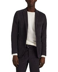 Officine Generale Unstructured Corduroy Two-button Sportcoat - Gray