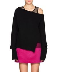 Helmut Lang - Distressed Wool-cashmere Off-the - Lyst