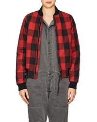 NSF - Neil Checked Flannel Bomber Jacket - Lyst