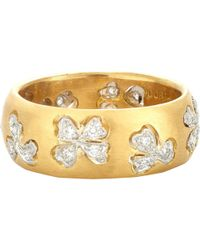Cathy Waterman Floating Lights Wildflower Ring - White
