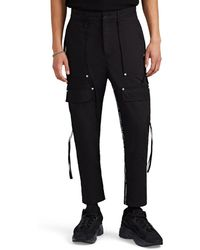 Stampd - Logo-striped Cotton Twill Cargo Trousers - Lyst