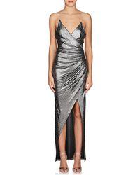 Balmain - Studded Lamé Gown - Lyst
